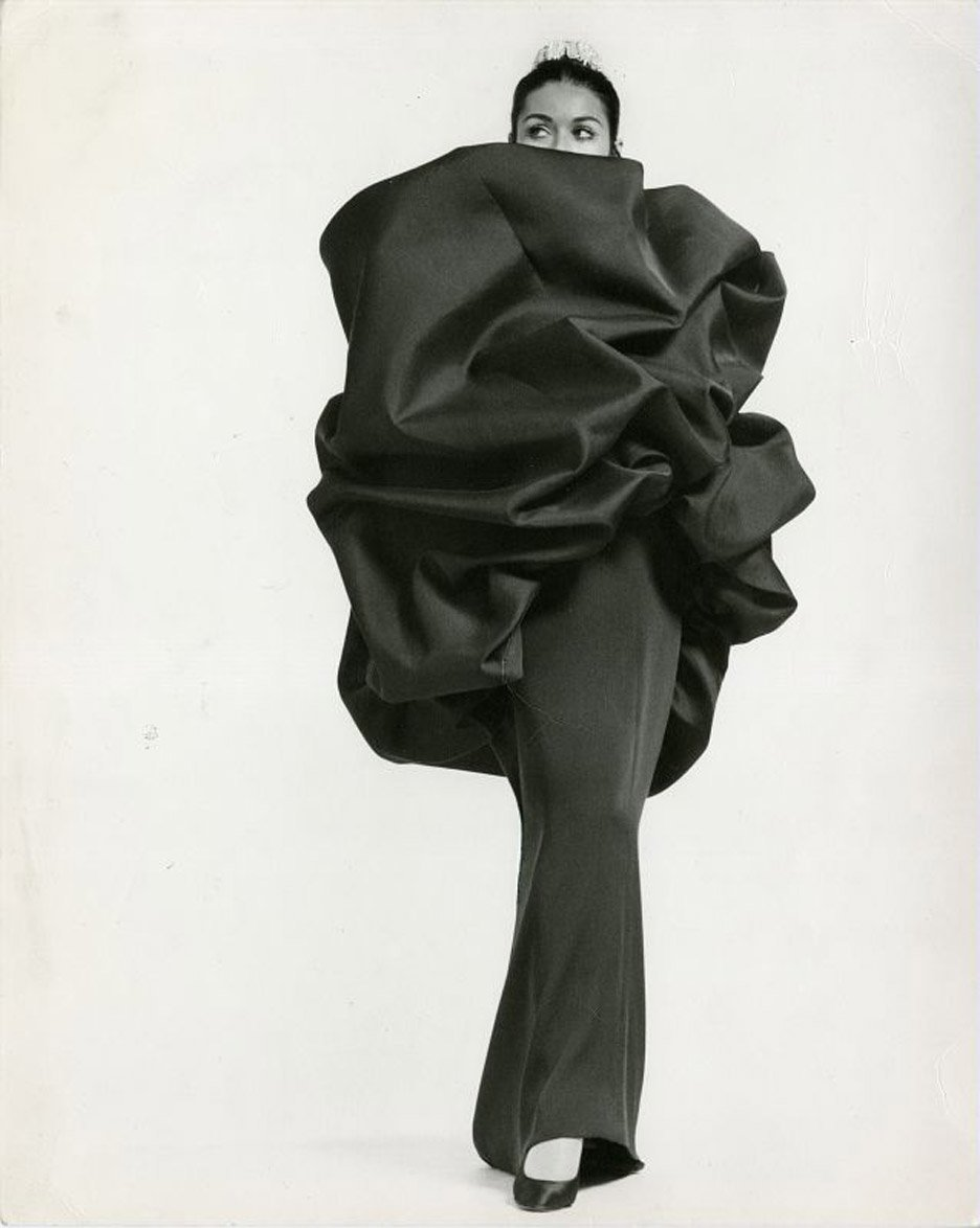 Balenciaga's Chou wrap and evening dress 1968