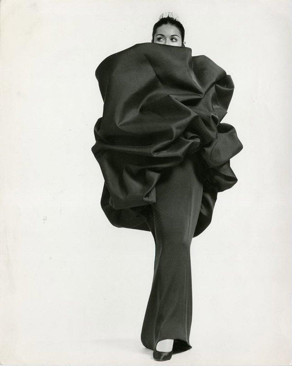 Balenciaga's Chou wrap and evening dress 1968