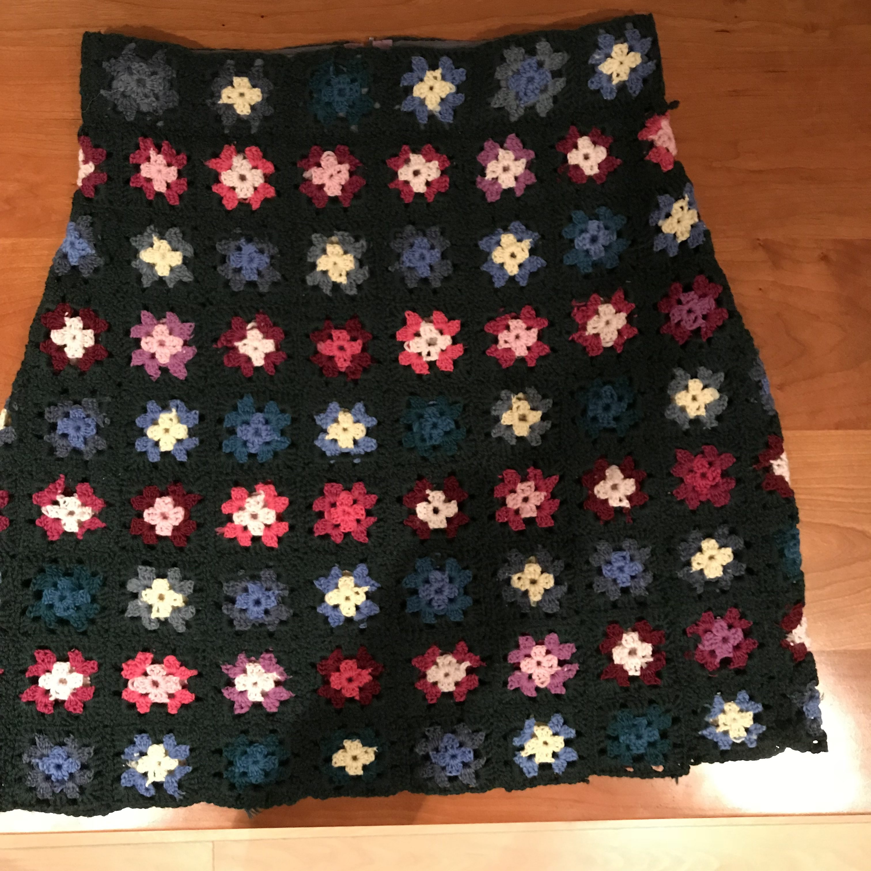 Granny square skirt front view