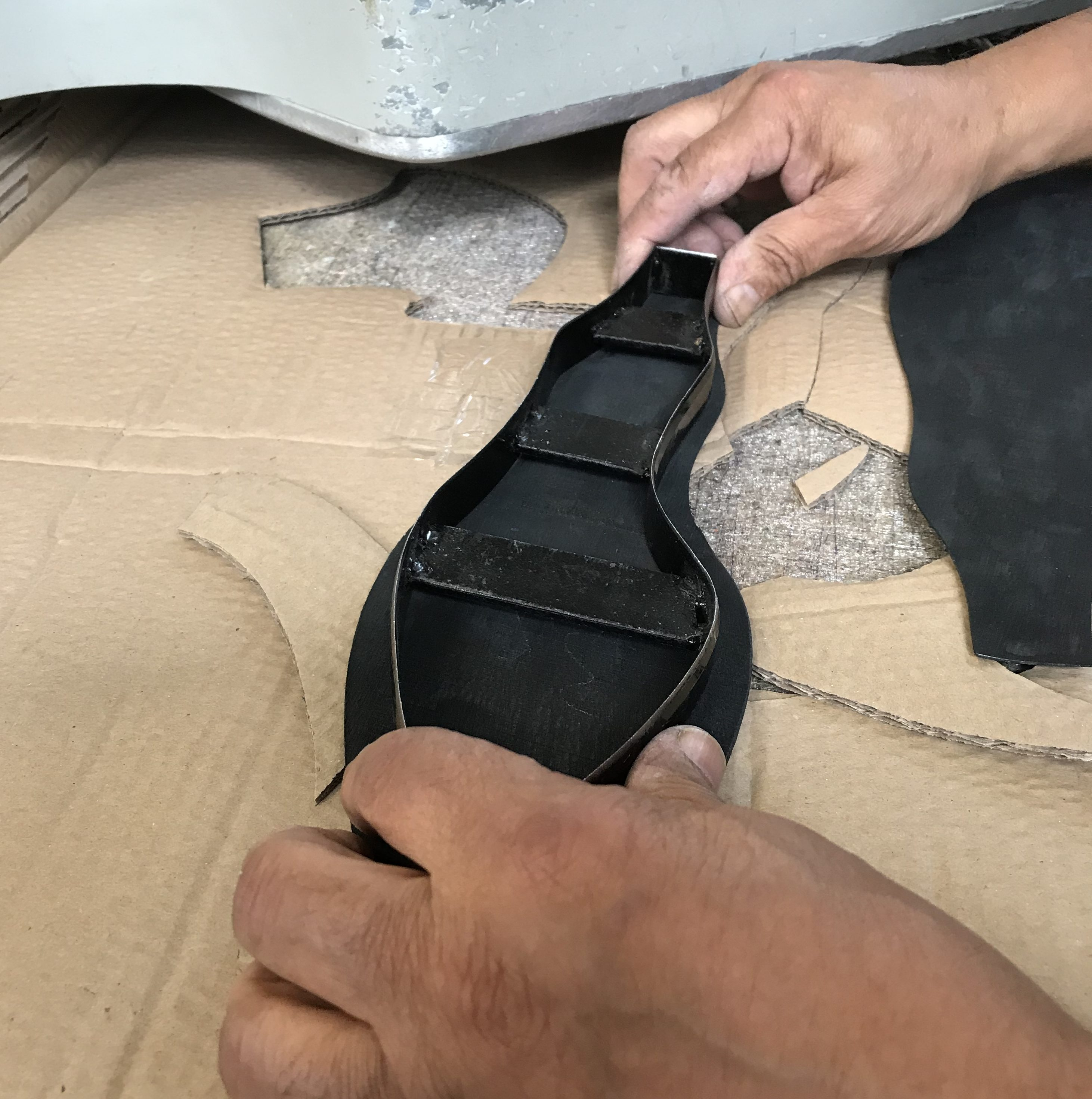 Cutting out the right size of sole