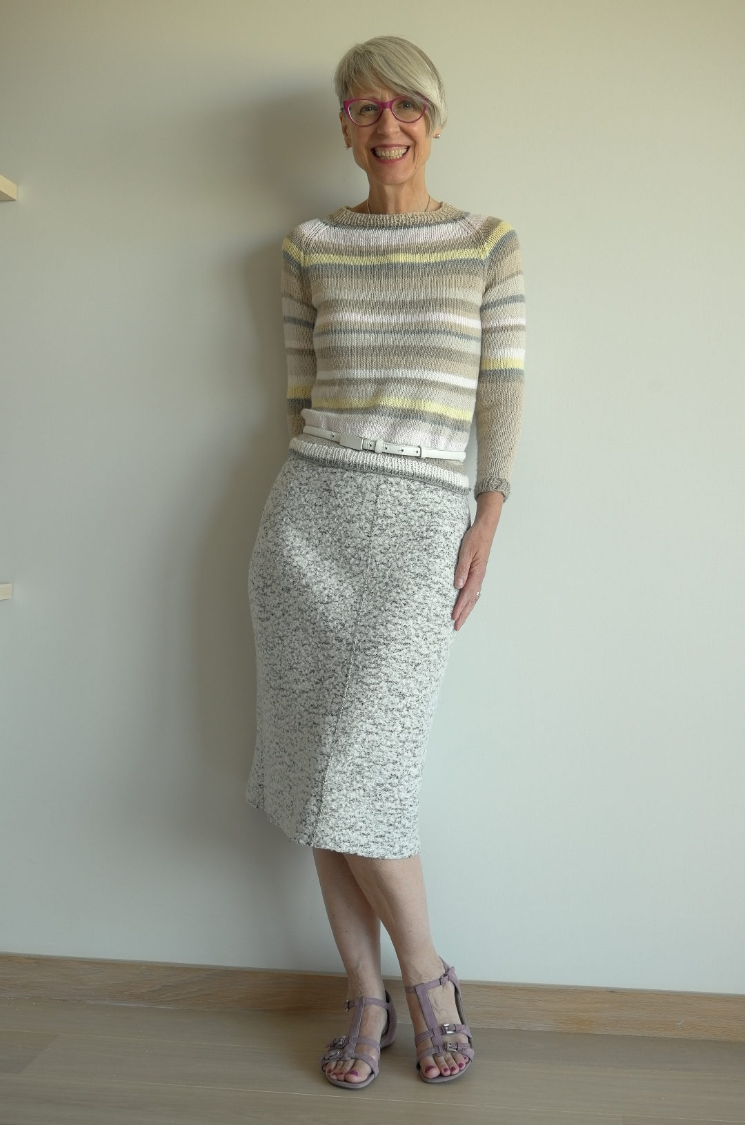 SWAP 18 EZ seamless raglan and self drafted pencil skirt