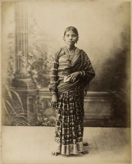 Indian long skirt and shawl