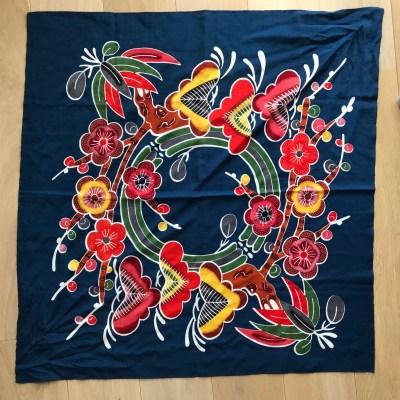 Japanese printed scarf