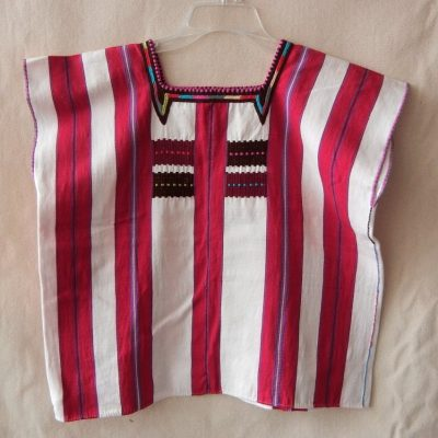 Bold stripes with emboridered neck
