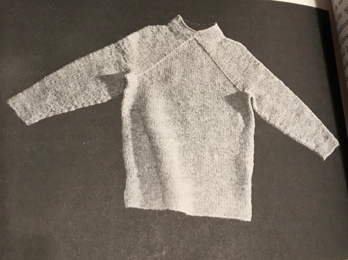 Elizabeth Zimmermann Wishbone sweater