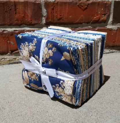 Blue Sky - Fat Quarter Fabric Bundle - Andover Fabric - Edyta Sitar Laundry Basket Quilts Fabric Collection - 1/4 Yard Bundle of 28 Fabrics