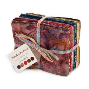 Pumpkin Pie Batiks Fabric - Moda Fabric - Fat Quarter Bundle - Edyta Sitar Laundry Basket Quilts - Hand Dyed Batik Collection - 20 Fabrics