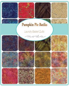 Pumpkin Pie Batiks Fabric - Moda Fabric - Fat Quarter Bundle - Edyta Sitar Laundry Basket Quilts - Hand Dyed Batik Collection - 20 Fabrics