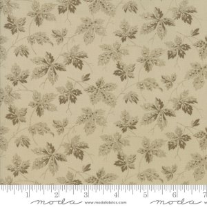 Baltimore Blues - Moda Fabric - Half Yard -  Reproduction Fabric Henrietta Leaves 1840 1890 Olive Green on Ivory Barbara Brackman 8341 15