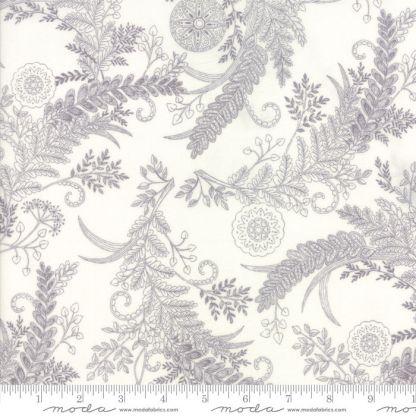 Bee Inspired Fabric - Moda Fabric - Half Yard - Deb Strain Novelty Fabric Botanical Sketch White Laurel Gray on White Quilt Fabric 9794 18