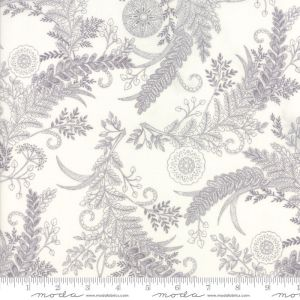 Bee Inspired Fabric - Moda Fabric - Half Yard - Deb Strain Novelty Fabric Botanical Sketch White Laurel Gray on White Quilt Fabric 9794 18