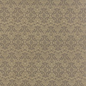 Black Tie Affair - Half Yard - Moda Fabric Floral Vignette Dark Gray on Tan Brown Designer Quilting Fabric by Basic Grey 30425 14