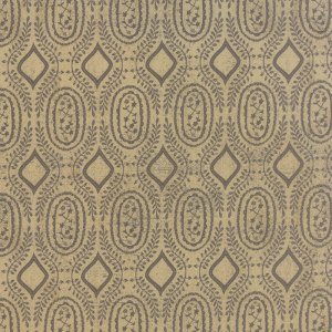Black Tie Affair - Half Yard - Moda Fabric Floral Woven Vine Black on Tan Designer Quilting Fabric by Basic Grey 30426 14