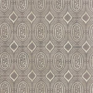 Black Tie Affair - Half Yard - Moda Fabric Floral Woven Vine Cream on Gray Designer Quilting Fabric by Basic Grey 30426 15