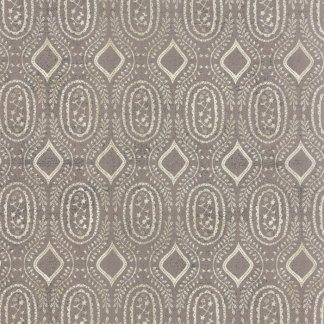 Black Tie Affair - Half Yard - Moda Fabric Floral Woven Vine Cream on Gray Designer Quilting Fabric by Basic Grey 30426 15