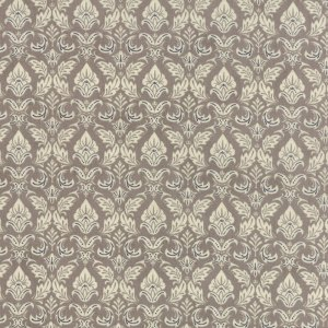 Black Tie Affair - Moda Fabric - Half Yard - Fleur De Lis Cream on Taupe Floral Cotton Fabric Basicgrey Basic Grey Gray 30421 14