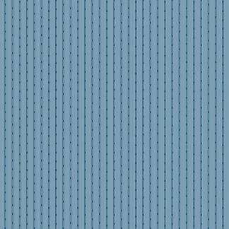 Blue Sky Fabric - Andover Fabric - Half Yard - Dark Blue Tiny Stripes on Blue Fabric Edyta Sitar Laundry Basket Quilts Fabric A-8514-W