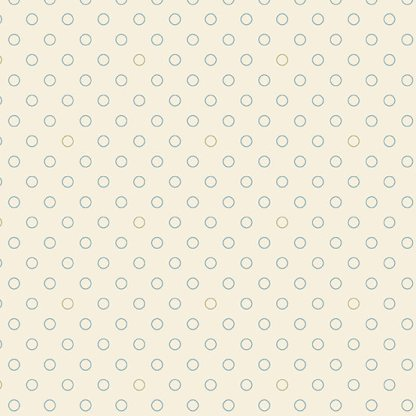 Blue Sky Fabric - Andover Fabric - Half Yard - Tan and Blue Circles Dots on Cream Shirting Fabric Edyta Sitar Laundry Basket Quilts A-8515-L