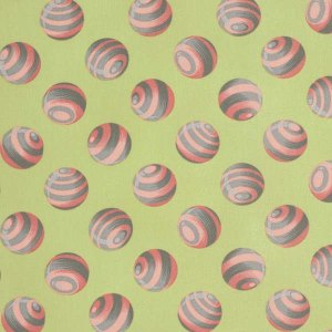 BUMBLE BUMBLE Sprout Green and Pink Dot Balls Peached Poplin by Tula Pink for Free Spirit Fabrics - Yardage - PETP0048Spro