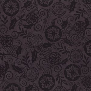 Christmas Countdown Fabric - Half Yard - Moda Fabric Christmas Fabric Deb Strain Black Tonal Tone on Tone Quilt Fabric 19622 18