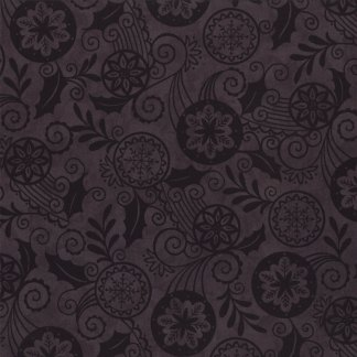 Christmas Countdown Fabric - Half Yard - Moda Fabric Christmas Fabric Deb Strain Black Tonal Tone on Tone Quilt Fabric 19622 18