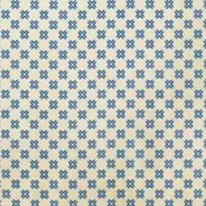 Correspondence - Blue Tailored Crosses - Half Yard - Tim Holtz Fabric- Blue Natural Cream off White Quilt Fabric Patriotic PWTH0558BLUE
