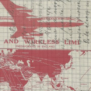 Correspondence - Jet Setter - Tim Holtz Fabric - Half Yard - Airplane Aero Plane Aviation Designer Quilt Fabric Patriotic PWTH0408REDX