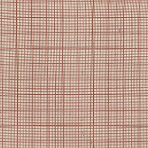 Correspondence - Red Graph - Tim Holtz - Half Yard - Red Lines on Natural Cream off White Designer Quilt Fabric Patriotic PWTH0428REDX