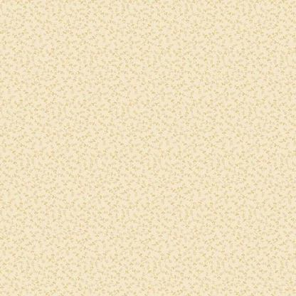 Crystal Farm Fabric - Andover Fabric - Half Yard - Edyta Sitar Laundry Basket Quilts Meadow Shirting Tiny Flowers Cream Off White A-8625-L