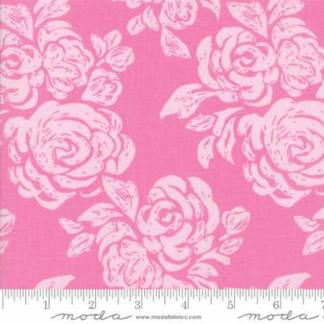Early Bird Fabric - Half Yard - Moda Fabric - Pink Tonal with Flowers Large Scale Print by Kate Spain Quilting Sewing Fabric Moda 27263 12