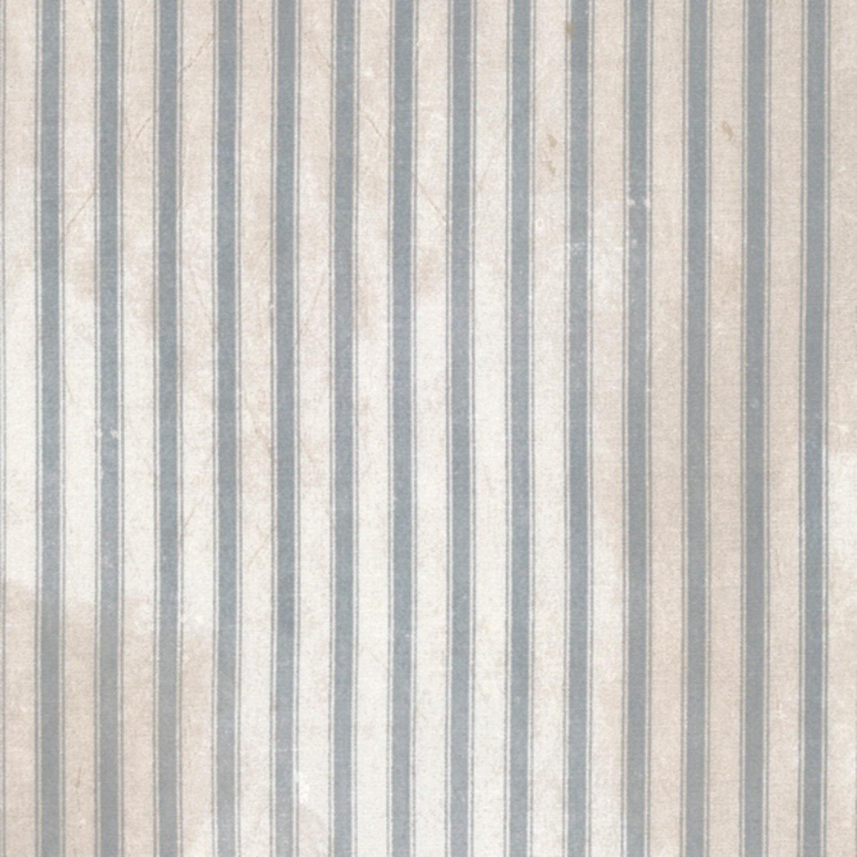 Eclectic Elements Dapper Light Blue Ticking Stripes Tim Holtz