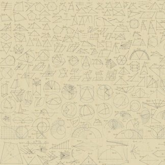 Encyclopedia Galactica Fabric - Half Yard - Tan Light Brown Scientific Symbols Star Charts Fabric Andover Outer Space Fabric A 8340 N