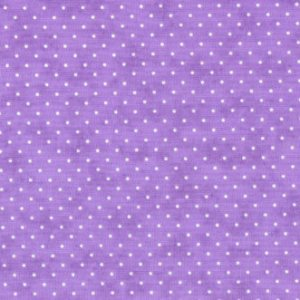 Essential Dots - Moda Fabric - Half Yard - Lilac Purple with White Small Polka Dots Polkadots Designer Quilting Sewing Fabric 8654 32