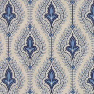 Grand Traverse Bay - Half Yard - Moda Fabric Floral Reproduction Northport Stone Tan Large Scale Quilt Fabric Minick & Simpson 14820 12