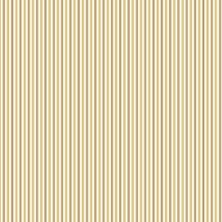 HABERDASHERY - Half Yard - Vintage Pin Stripe Pattern in Cream and Tan Brown Reproduction Quilting Fabric Jo Morton Andover - A-7644-N