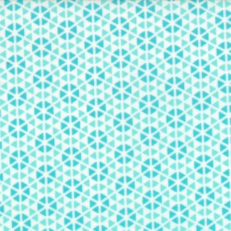 Hubba Hubba - Floral Diamond Geometric Turquoise and Teal Blues by Me & My Sister Designs Modern Quilting Fabric Moda - 1/2 Yard  2221414