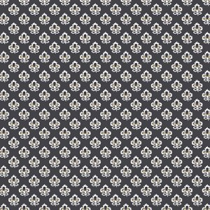 Joyful - Andover Fabric - Half Yard - Black and Tan Fleur de Lis Flowers on Black Designer Quilting Sewing Fabric by Andover - A-7638-KN