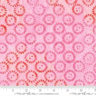 Latitude Batik Fabric - Moda Fabric - Half Yard - Kate Spain Ocean Pink Compass Valley Circles Hand Dyed Fabric Quilt Fabric 27250 309