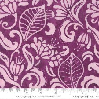 Latitude Batik Fabric - Moda Fabric - Half Yard - Kate Spain Pink Purple Landmark Flowers and Leaves Hand Dyed Fabric Quilt Fabric 27250 296
