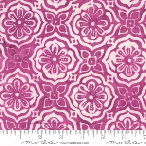 Latitude Batik Fabric - Moda Fabric - Half Yard - Kate Spain Pink Purple Treasure Medallions Sunset Hand Dyed Fabric Quilt Fabric 27250 277
