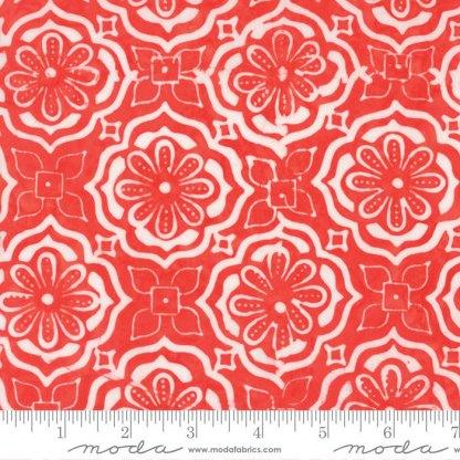 Latitude Batik Fabric - Moda Fabric - Half Yard - Kate Spain Sunrise Orange Treasure Medallions Hand Dyed Fabric Quilt Fabric 27250 281