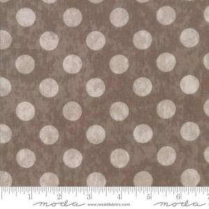 Maven Fabric - Half Yard - Moda Fabric Light Gray Large Polka Dots on Taupe Brown Cotton Quilt Fabric Basicgrey Basic Grey Gray 30464 26