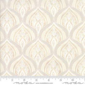 Maven Fabric - Half Yard - Moda Fabric Tonal Cream Fancy Peaks on Tan Brown Cotton Quilt Fabric Basicgrey Basic Grey Gray 30462 19