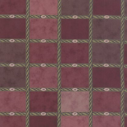 Mille Couleurs Fabric Swatch Chart Mulberry Purples Plums with Numbers Designer Quilting Fabric by 3 Sisters for Moda - 1/2 Yard 44080 14