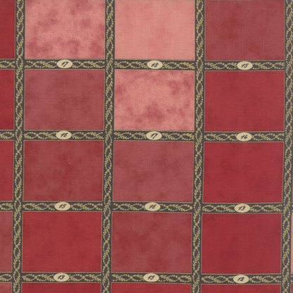 Mille Couleurs Fabric Swatch Chart Rouge Reds and Pinks with Numbers Designer Quilting Sewing by 3 Sisters for Moda - 1/2 Yard 44080 13