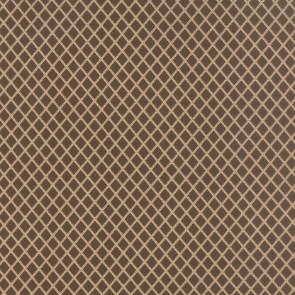 Mille Couleurs Floral Trellis Diamonds Walnut Brown and Tan Designer Quilting Sewing Fabric 3 Sisters Moda - 1/2 Yard 44089 12