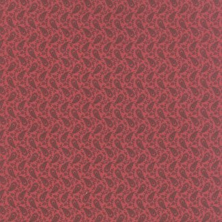 Petite Prints Deux Fabric - Moda Fabric - Half Yard - Floral Paulette Pink with Feathers Small Scale Print Primitive Gatherings 13752 15