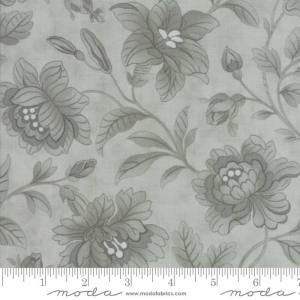 Quill Fabric - Moda Fabric - Half Yard - Floral Damask Aqua Blue Tonal Large Flowers 3 Sisters Fabric Large Scale Print 44156 24