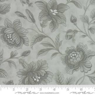 Quill Fabric - Moda Fabric - Half Yard - Floral Damask Aqua Blue Tonal Large Flowers 3 Sisters Fabric Large Scale Print 44156 24