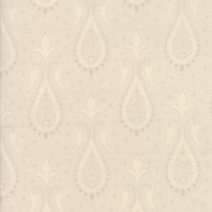 Sweet Blend Fabric - Moda Fabric - Half Yard - Floral Reproduction Paisley Natural Ivory Tonal Edyta Sitar Laundry Basket Quilts 42293 13
